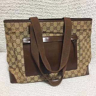 Gucci - 【最終値下げ】定価約18万円 正規品 GUCCI GG柄トートバッグ A4サイズの通販