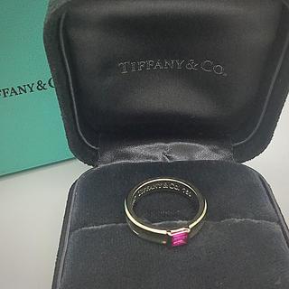 ティファニー(Tiffany & Co.)のティファニー ルビー  18金ホワイトゴールド リング 11号(リング(指輪))