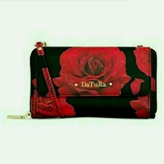ダチュラ(DaTuRa)の🌹DaTuRa🌹希少✨薔薇柄🌹ショルダーウォレット💜新品✨(財布)