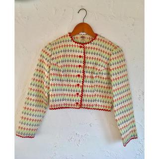 ロキエ(Lochie)のLANZ Original社製 vintage ヴィンテージ総刺繍ジャケット(ノーカラージャケット)