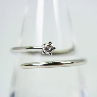 750WG ダイヤモンド リング 11号[g130-7](リング(指輪))