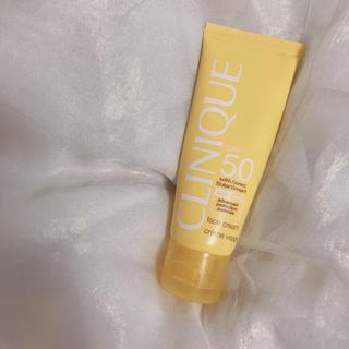 クリニーク(CLINIQUE)のクリニーク フェースクリーム 顔用日焼け止め SGF50(日焼け止め/サンオイル)