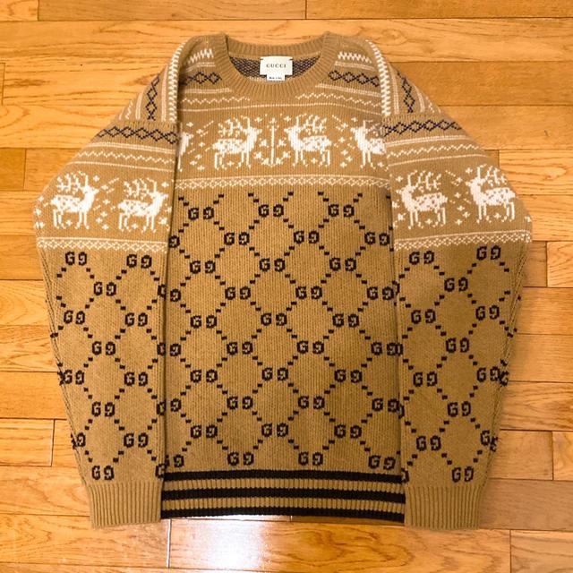 Gucci - gucci グッチ キッズ チルドレン トナカイ セーター ニット ジャガードの通販 by POP