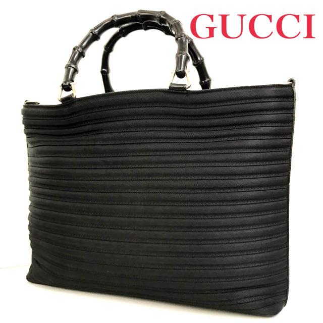 Gucci - GUCCI グッチ バッグ バンブー ハンドバッグ ブラック 男女兼用 おすすめの通販 by ブランドshop