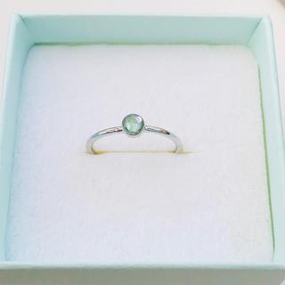 ライムミントの細身シルバーリング(リング(指輪))