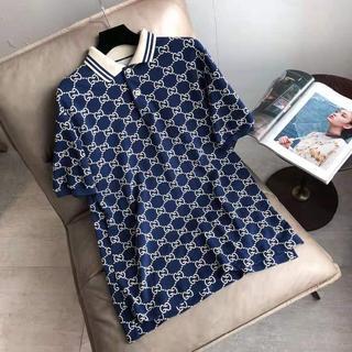 Gucci - 新作【GUCCI】GG柄ストレッチコットンポロシャツの通販