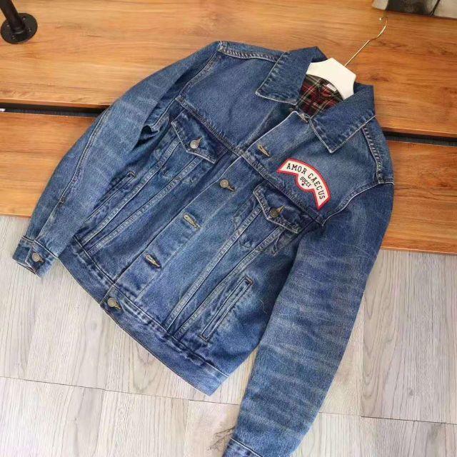 Gucci - GUCCI☆パッチ付き オーバーサイズ デニム ジャケットの通販 by まえしまみゆ's shop