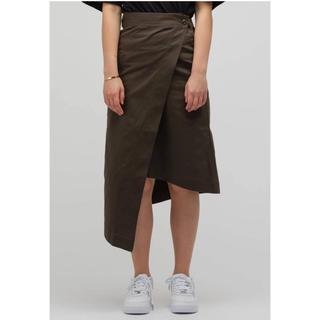 ハイク(HYKE)のhyke cotton ラップスカート 2019ss オリーブ(ロングスカート)