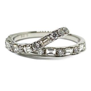 プラチナ900  天然ダイヤモンド0.54ct リング スタイリッシュ(リング(指輪))