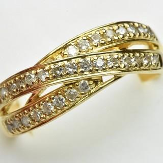 専用です K18 合計 0.50ct 大きいサイズ 18号 ダイヤモンドリング(リング(指輪))