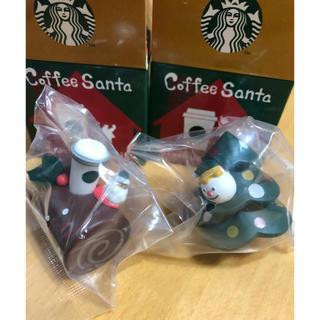 スターバックスコーヒー(Starbucks Coffee)のスタバ Starbucks コーヒーサンタ 2個セット 新品(ノベルティグッズ)