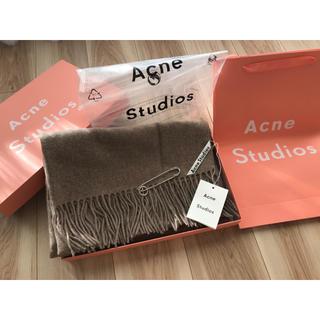 アクネ(ACNE)の【最安】Acne Studios アクネ 大判ストール オートミール(ストール/パシュミナ)