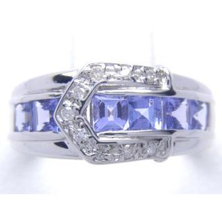 K18WG 天然 タンザナイト ダイヤ リング(リング(指輪))