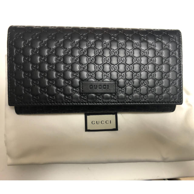 Gucci - gucci マイクログッチ 折りたたみ長財布 新品未使用の通販 by しん's shop