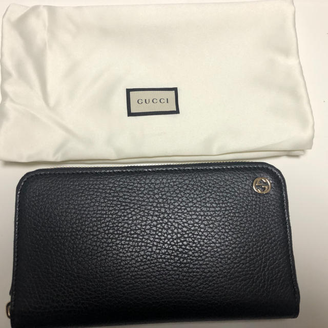 Gucci - GUCCI 長財布 レザーブラック 新品未使用の通販 by しん's shop