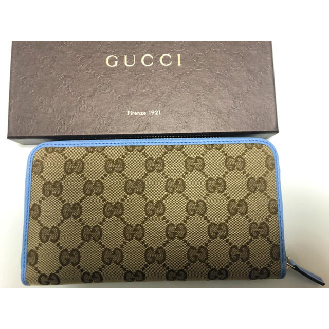Gucci - GUCCI GG 長財布新品未使用 ライトブルーの通販 by しん's shop