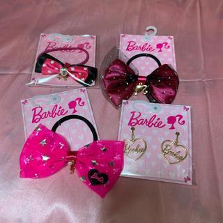 バービー(Barbie)のバービー ヘアゴム  リボン シュシュ イヤリング barbie バービーグッズ(ヘアゴム/シュシュ)