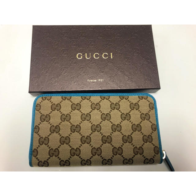 Gucci - GUCCI GG 長財布新品未使用 ブルーの通販 by しん's shop
