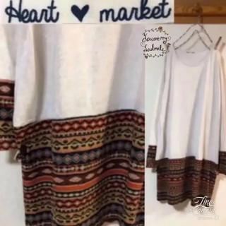 ハートマーケット(Heart Market)のハートマーケット ★②⑦⑥③ 切り替え ワンピース sm2メルローサンバレー好き(ミニワンピース)