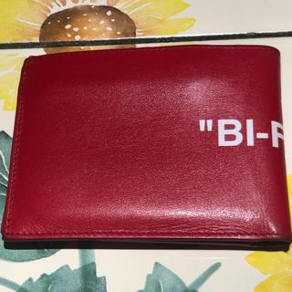 オフホワイト(OFF-WHITE)のOFF-WHITE二つ折り財布(折り財布)