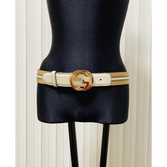 Gucci - GUCCI グッチ ベルト グッチ バックル ゴールド リボンライン リボンの通販 by to-kisya shop