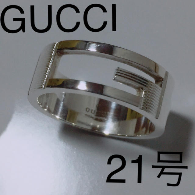 Gucci - GUCCI 21号 ブランデッドリング の通販 by ラッパー購入's shop