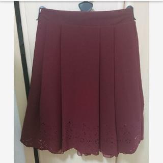 マジェスティックレゴン(MAJESTIC LEGON)の赤 ひざ丈スカート(ひざ丈スカート)