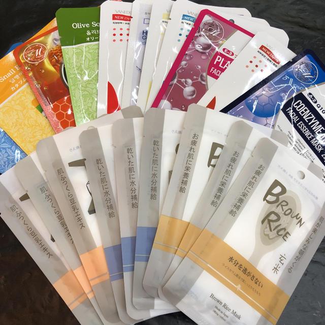 シートマスク フェイスパック シートパック フェイスマスク 色々セット20枚の通販