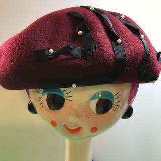 ランバンオンブルー(LANVIN en Bleu)のLANVIN.....ベレー帽……新品未使用(ハンチング/ベレー帽)