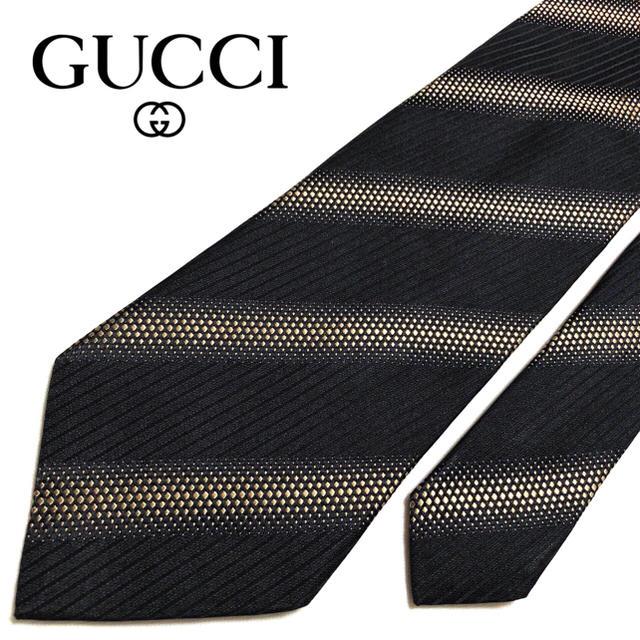 ヴィトンスーパーコピー高品質安い,Gucci-【美品】GUCCIネクタイイタリア製ブラックパターン柄の通販byhhy