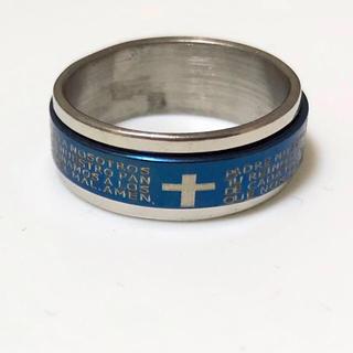 ステンレス指輪ブルー(リング(指輪))