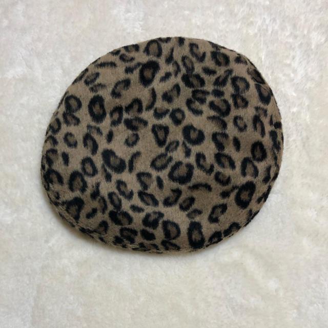 WEGO(ウィゴー)のヒョウ柄 ベレー帽 レディースの帽子(ハンチング/ベレー帽)の商品写真