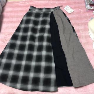 サブロク(SABUROKU)の三色使い切り替えスカート(ロングスカート)