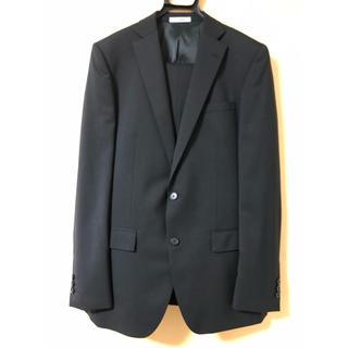 アオキ(AOKI)のリクルートスーツ 上下セット 黒 ブラック(セットアップ)