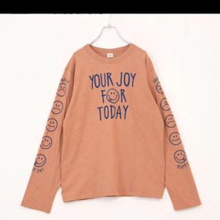 キューブシュガー(CUBE SUGAR)のCUBE SUGAR 長袖 Tシャツ カットソー オレンジ M(Tシャツ(長袖/七分))