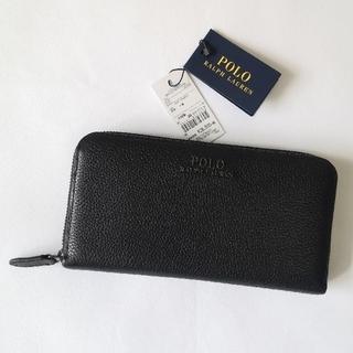 ラルフローレン(Ralph Lauren)のPOLO RALPH LAUREN 新作 メンズ 長財布 ブラック 正規品(長財布)