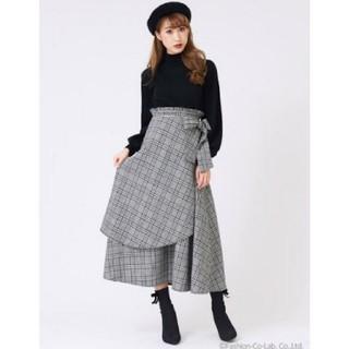 ティティアンドコー(titty&co)のtitty&Co.チェックレーヤードスカート♡(ロングスカート)