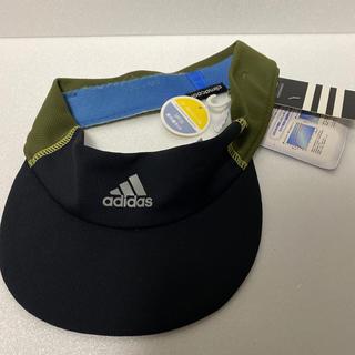 アディダス(adidas)のadidas サンバイザー 新品(サンバイザー)
