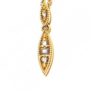 アガット(agete)のagete K18 ダイヤモンド スクリュー ネックレス(ネックレス)
