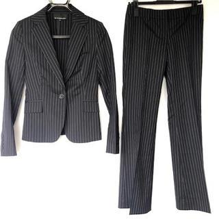 エムプルミエ(M-premier)のエムプルミエ パンツスーツ ジャケット パンツ ストライプ ウール(スーツ)