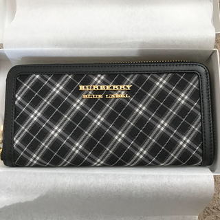 バーバリーブルーレーベル(BURBERRY BLUE LABEL)のバーバリーブルーレーベル ブラックチェック 長財布♡(財布)