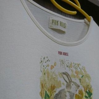 ピンクハウス(PINK HOUSE)のウサギ柄半袖カットソー(カットソー(半袖/袖なし))