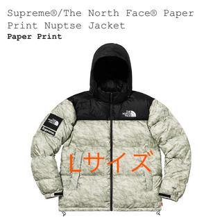 シュプリーム(Supreme)のSupreme The North Face Paper Print Lサイズ(ダウンジャケット)