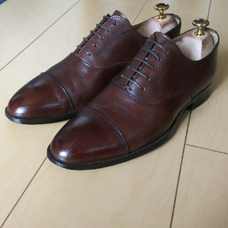 ユナイテッドアローズ(UNITED ARROWS)のビジネスシューズ 革靴 ストレートチップ 40 ダークブラウン(ドレス/ビジネス)