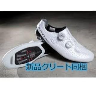 シマノ(SHIMANO)のシマノ(SHIMANO) RC9 サイズ44 ホワイト SPD-SL クリート付(ウエア)
