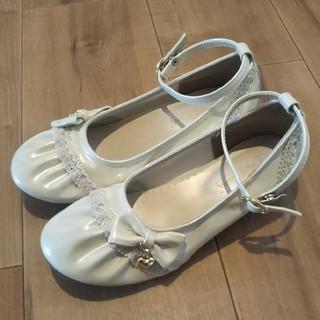 フォーマル 白 靴 21.0cm(フォーマルシューズ)