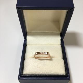 ヴァンドームアオヤマ(Vendome Aoyama)のヴァンドーム  k10 ダイヤ 付き リボンリング 6号(リング(指輪))
