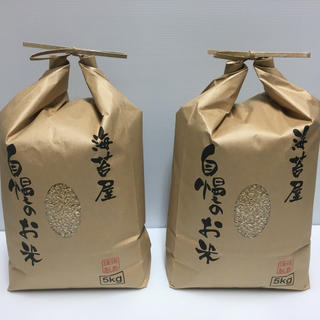 らら様 専用 無農薬玄米 コシヒカリ 10kg(5kg×2)令和元年 徳島県産(米/穀物)