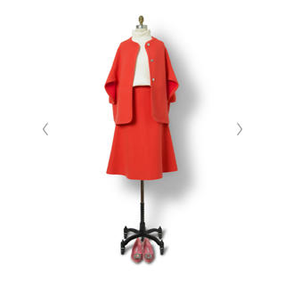 ドゥロワー(Drawer)の2019AW Drawer ドゥロワー 12Gダブルフェイスフレアニットスカート(ひざ丈スカート)