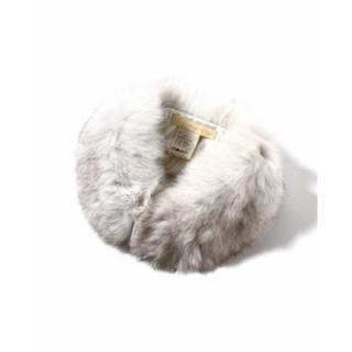 イエナスローブ(IENA SLOBE)のイエナ スローブ ファー ティペット 襟巻き マフラー スヌード 白(マフラー/ショール)